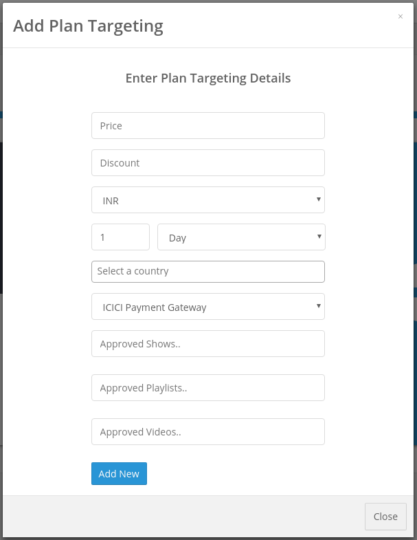 Adding Targeting for a plan